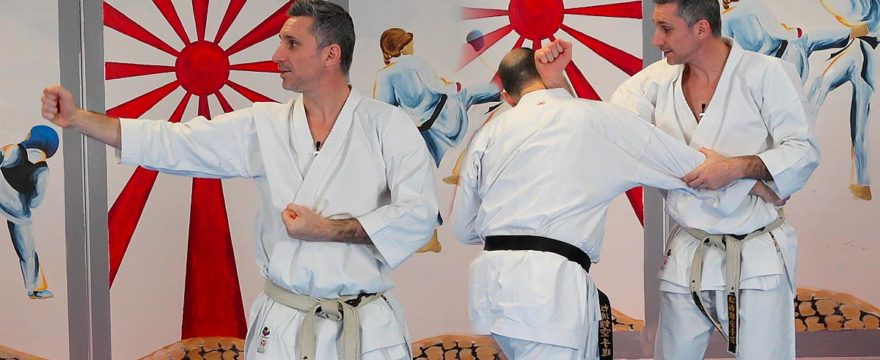 video bunkai chinte avec Lionel froidure karate shotokan